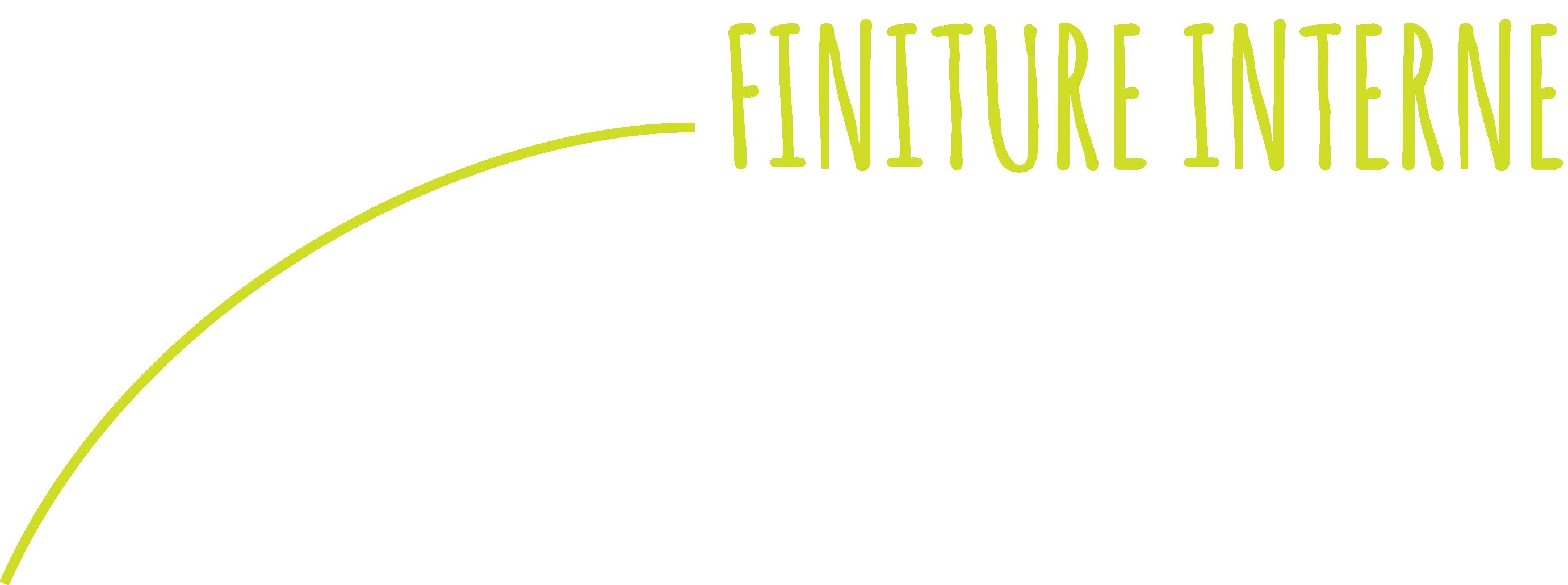Immagine della scritta finiture interne all'interno dello slider Il Guscio