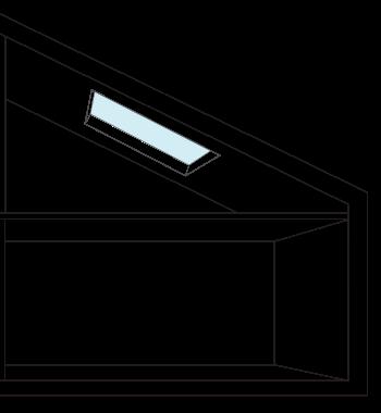 Disegno rappresentativo di un lucernario - Eco Idee Edilizia