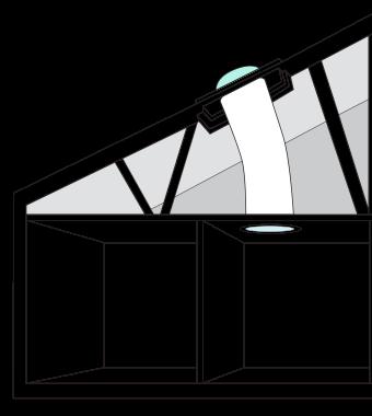 Disegno per rappresentare un tunnel solare - Eco Idee Edilizia